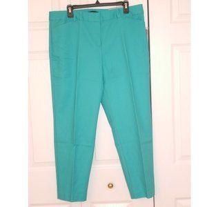 Liz Claiborne Emma Classic Pants, Teal, Size 14